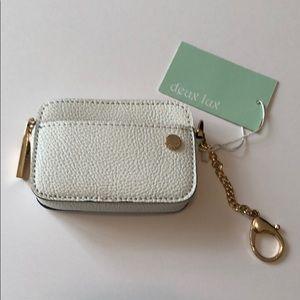 Deux Lux Elle Coin Pouch in White - NWT